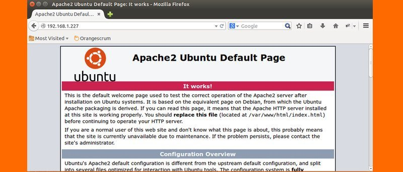 How To Install the Apache Web Server on Ubuntu