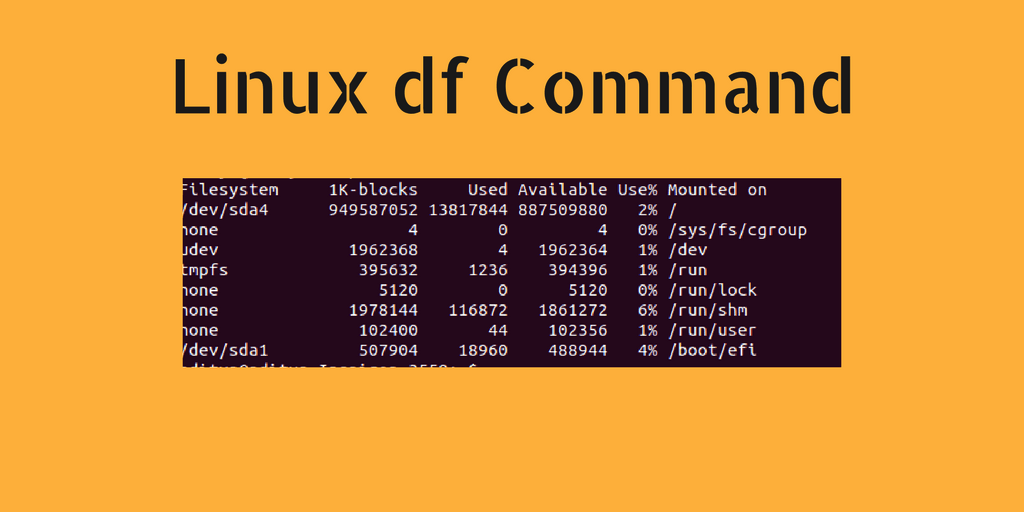 how to check disk space in Linux