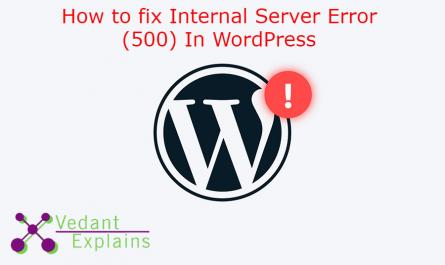 How to fix Internal Server Error (500) In WordPress